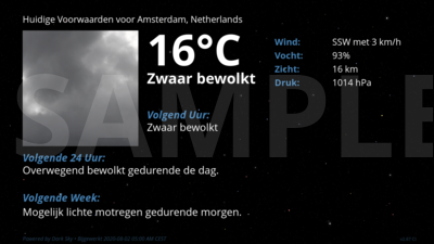 Current Conditions for Amsterdam, Netherlands