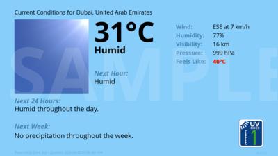 Current Conditions for Dubai, United Arab Emirates