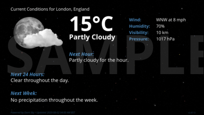 Current Conditions for London, England