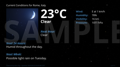 Current Conditions for Rome, Italy
