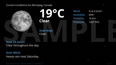 Current Conditions for Winnipeg, Canada